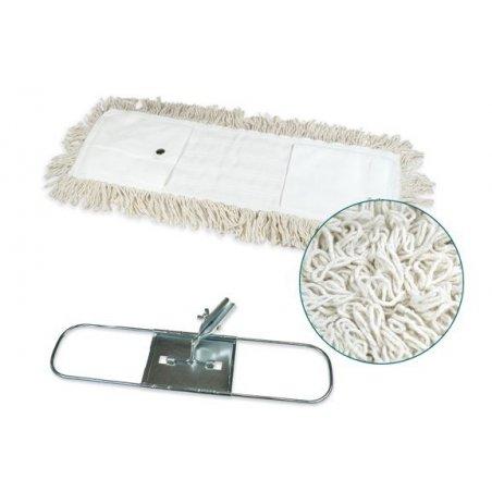 Mopa industrial algodón 15x75 cms con bastidor metálico