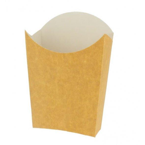 Petaca para patatas fritas de tamaño mediano. Pack de 50 unidades.