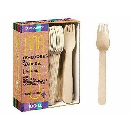 Tenedor de madera 16 cm....