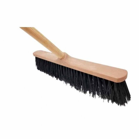 Cepillo de barrendero duro de 50 cms con mango