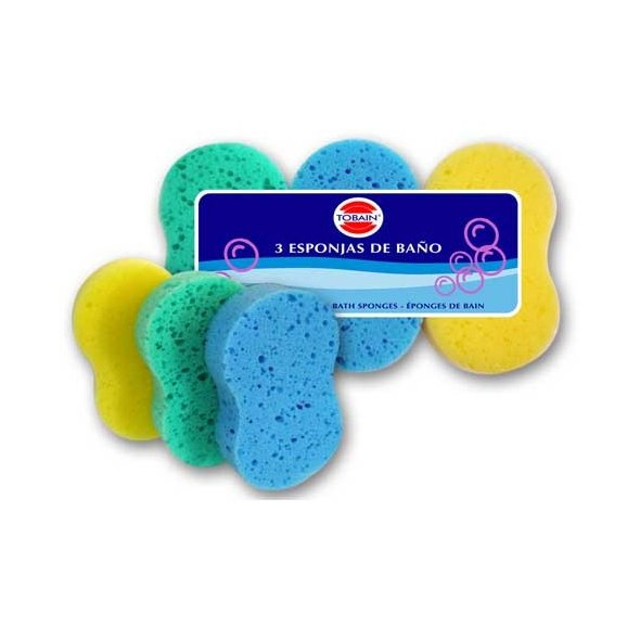 Esponjas de baño ovaladas. Caja 30 uds