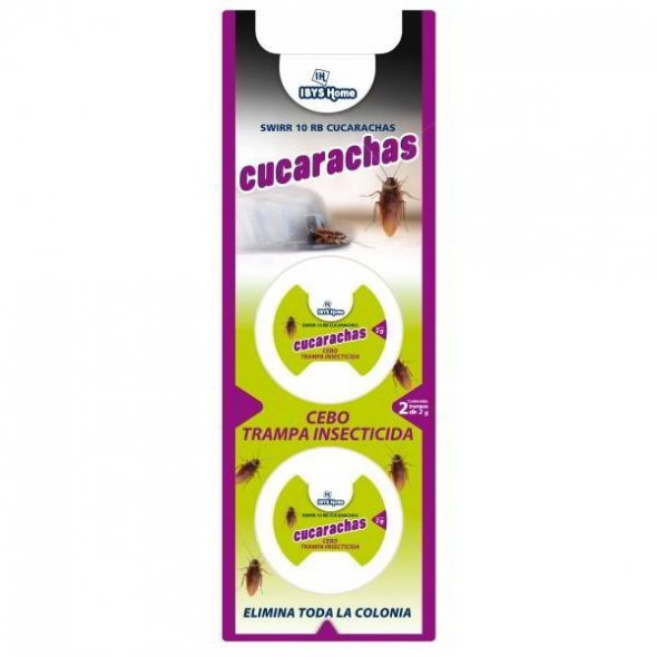 Trampa cebo insecticida para cucarachas. Pack 2 uds
