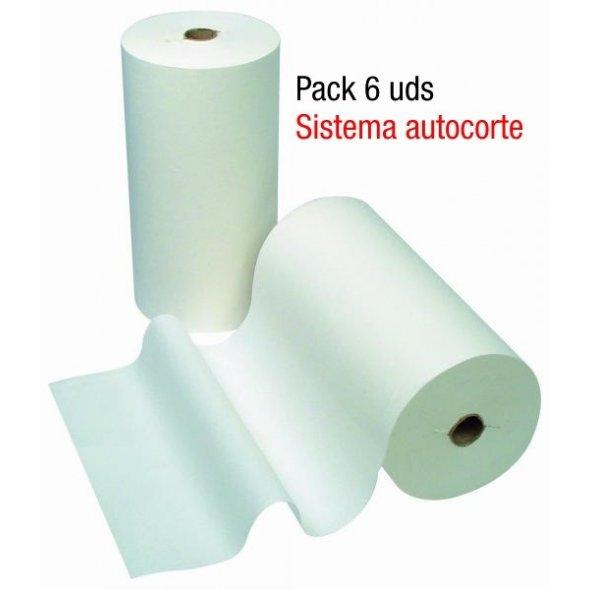 Pack 6 rollos secamanos autocorte