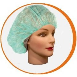 Gorro desechable redondo PP Verde. Pack 100 uds
