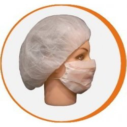 Mascarilla desechable simple en papel 1 pliegue. Pack 1000 uds
