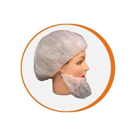 Cubrebarba blanco desechable. Pack 1000 uds