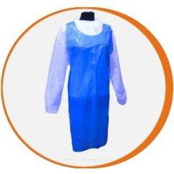Delantal desechable azul Polietileno alta resistencia. Caja 500 uds
