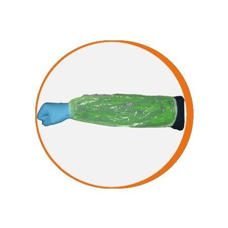 Manguitos desechables Polietileno Verde. Pack 100 uds