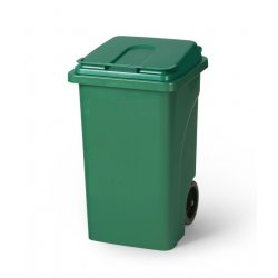 Contenedor verde 120 L con ruedas