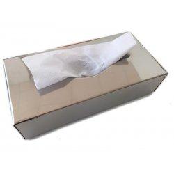 Dispensador de toallas faciales en acero inoxidable