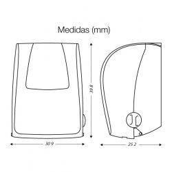 Medidas dispensador de papel autocorte CleanTech