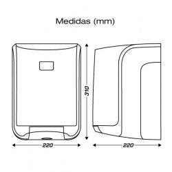 Medidas dispensador bobinas secamanos papel mecha CLIMLINE