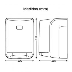 Dispensador transparente bobinas secamanos papel mecha CLIMLINE