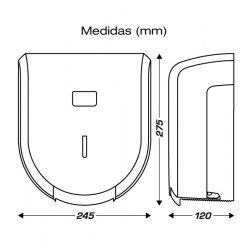 Medidas portarrollos dispensador para papel higiénico ClimLine