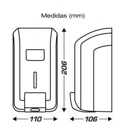 Medidas Dispensador jabón líquido CLIMLINE.