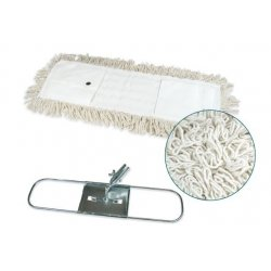 Mopa plana industrial algodón 15x60 cms con bastidor metálico