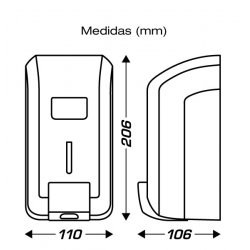 Dispensador plateado jabón líquido CLIMLINE.