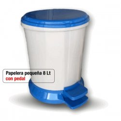 Papelera pequeña con pedal 8 litros