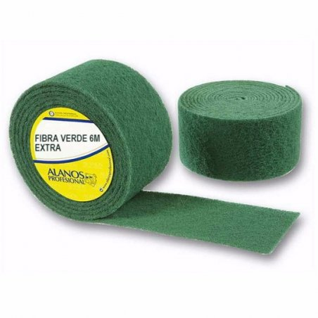 Rollo de estropajo fibra verde EXTRA 6 metros