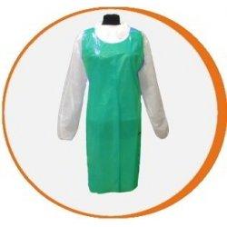 Delantal desechable verde Polietileno. Pack 100 uds
