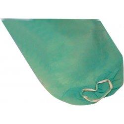 Bata hospitalaria desechable verde con puño elástico. Pack 100 uds
