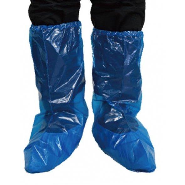Cubrebotas desechable Azul en Polietileno. 500 uds