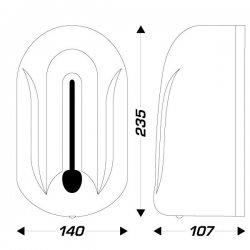 Dosificador automático de jabón con sensor