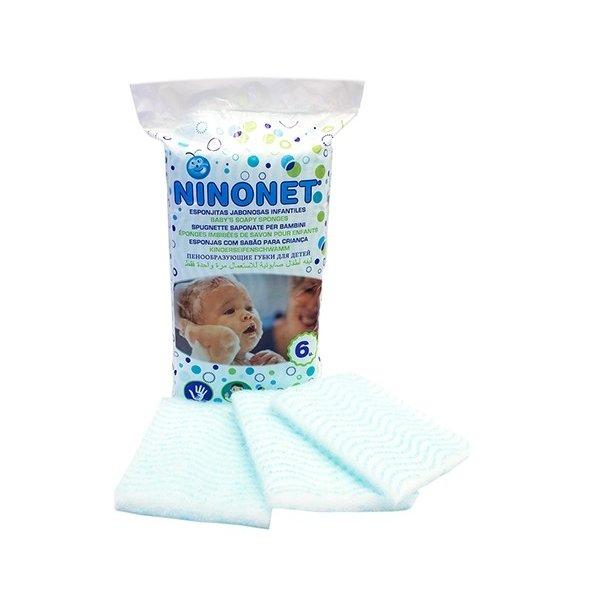 Esponjas jabonosas infantiles Ninonet. Pack 6 uds
