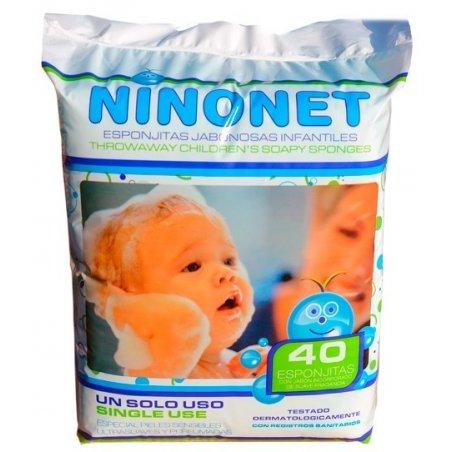 Esponjas jabonosas infantiles Ninonet. Pack 40 uds