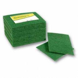 Estropajo de fibra verde cortada 19x16 cms 15 uds