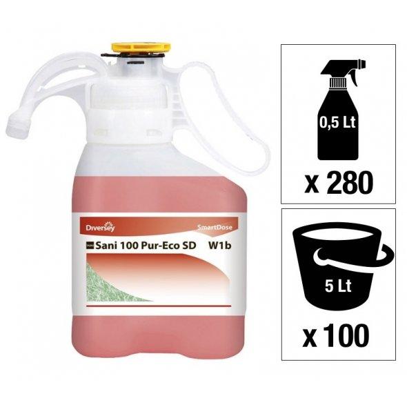 Limpiabaños concentrado Ecolabel TASKI Sani 100 Pur-Eco SD