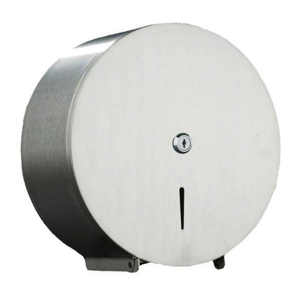 Dispensador papel higi nico industrial en acero inoxidable for Portarrollos papel higienico