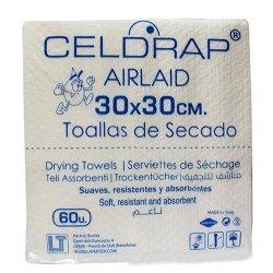 Toallas de secado desechables tejido Airlaid 30x30 cms. 600 uds