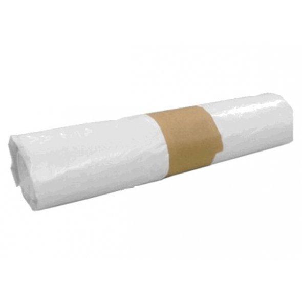 Bolsas de basura blancas 54x60 cm. 25 litros. Rollo 20 uds.