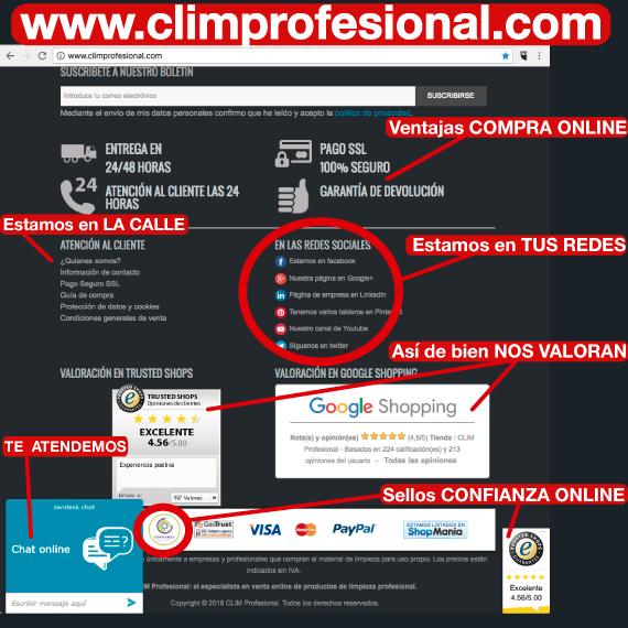 Ventajas de comprar Materal de Limpieza en ClimProfesional