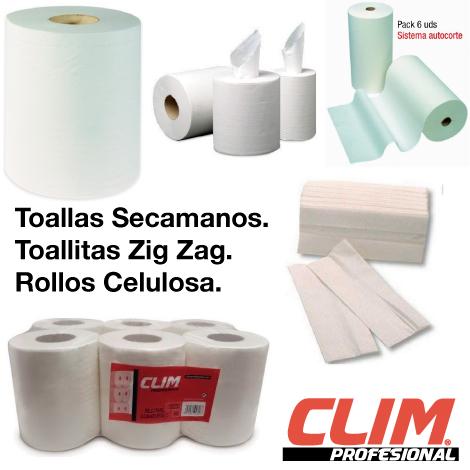 Tipos de papel secamanos de Clim Profesional Toallas secamanos