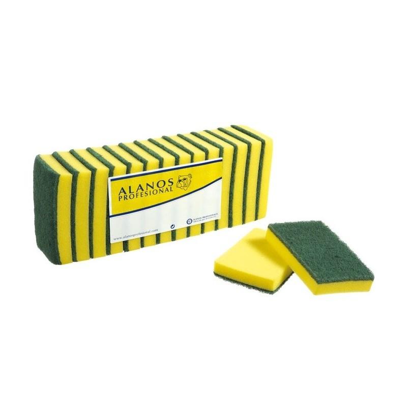 estropajo-de-fibra-verde-con-esponja-15x10-cm-14-uds