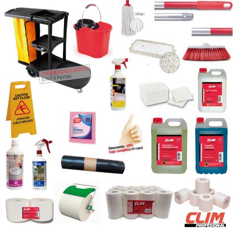 herrameintas y productos de limpieza para oficinas