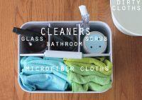 Lo que necesitas para la limpieza rápida de los baños (fuente CleanMama.net)