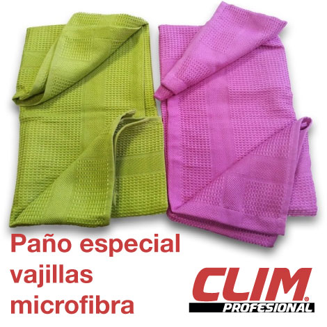 Paño especial vajillas 100% microfibra. Pack 2 uds. 50x50cms