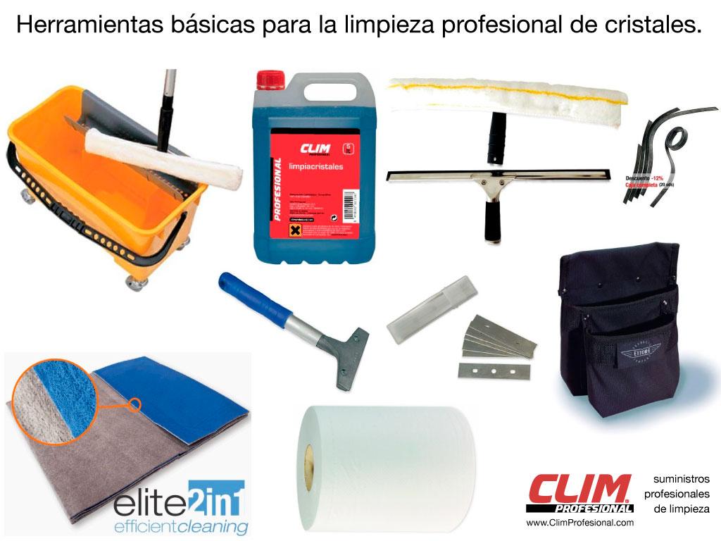 58552aa379 Herramientas básicas para los trabajos de limpieza de cristales.