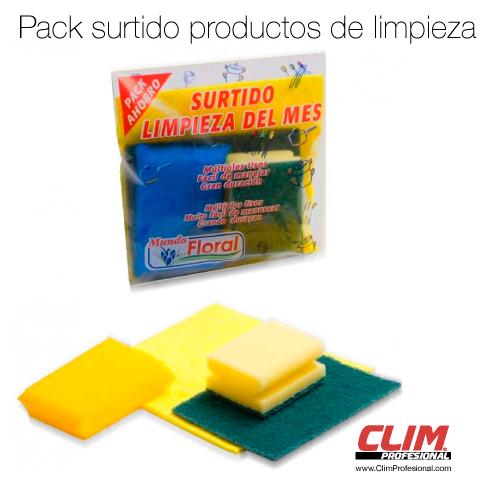 Pack surtido productos de limpieza. Set de productos de limpieza