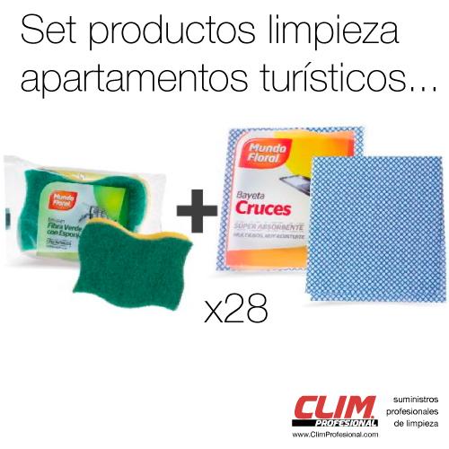 Set de productos de limpieza apartamentos turísticos