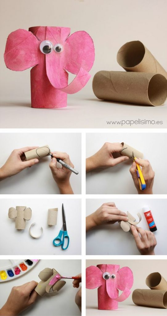 idea para hacer con papel higiénico para manualidades