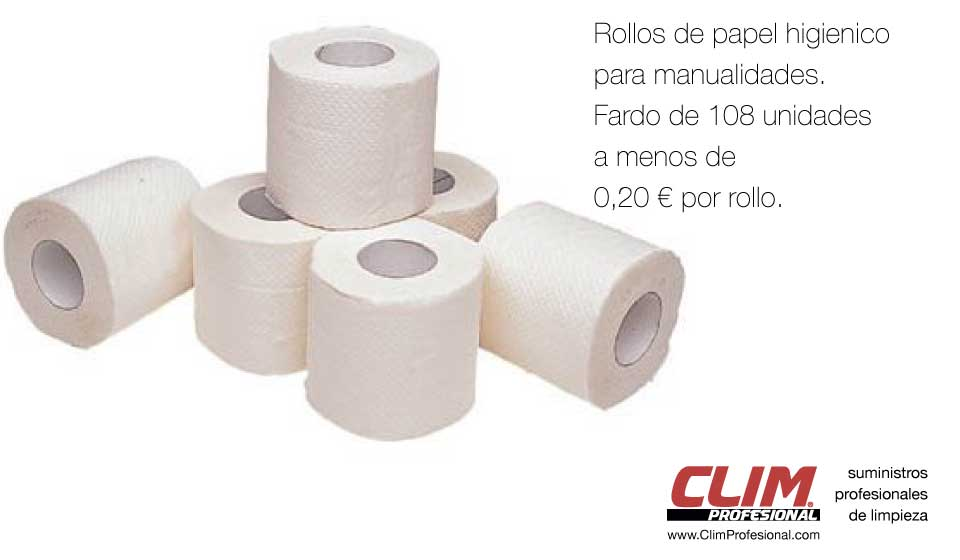 Papel higiénico para manualidades de ClimProfesional