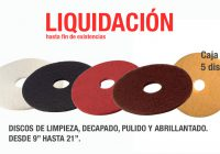 discos de limpieza y pulido en liquidacion