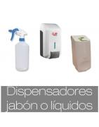 Dispensadores de jabón y líquidos