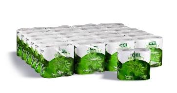 Papel higiénico CEL Ecodecor XL, suave, extralargo y decorado
