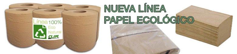 rollos de papel, servilletas y zz ecologicos