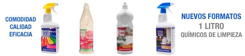 Quimicos para limpieza en formato de 1 litro